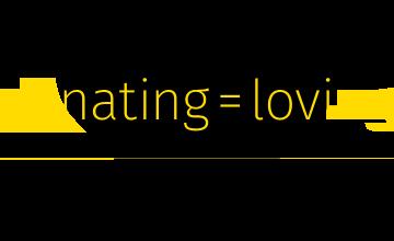 loving = donating