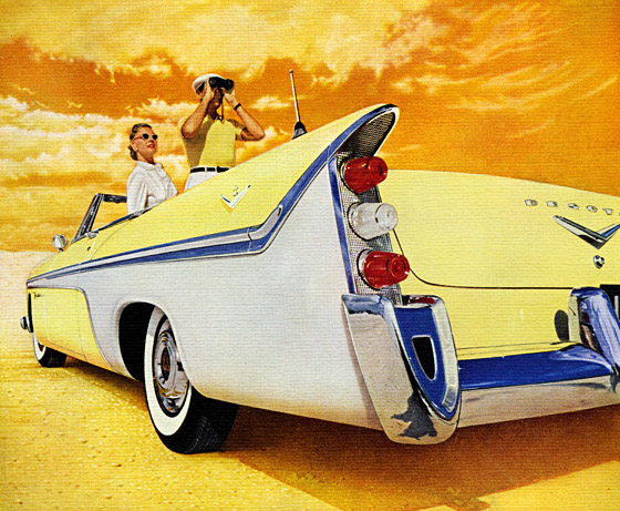Harley20earl2020193820buick likewise Vintage Car Ads besides 1960 also 1960 Ford besides Cadillac eldorado biarritz convertible  1957. on 1950s cars with big fins