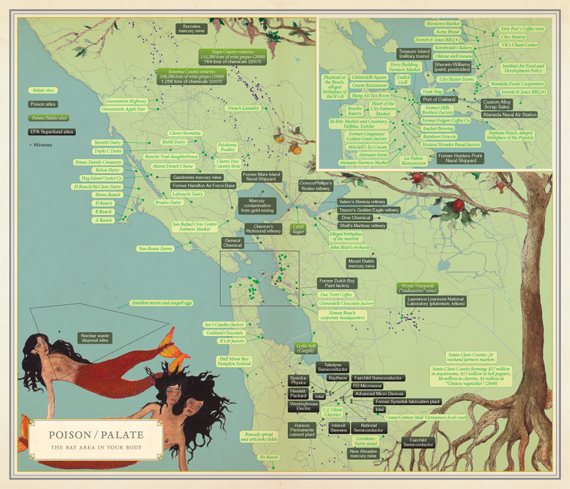 Good Site Map Examples: Infinite City: A San Francisco Subcultural Atlas