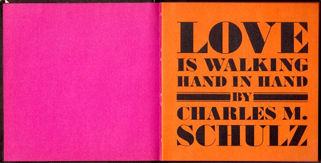 loveiswalkinghandinhand_01 - Love Is Walking Hand In Hand: The Peanuts Gang Defines Love, 1965 - Love Talk