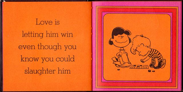 loveiswalkinghandinhand_09 - Love Is Walking Hand In Hand: The Peanuts Gang Defines Love, 1965 - Love Talk