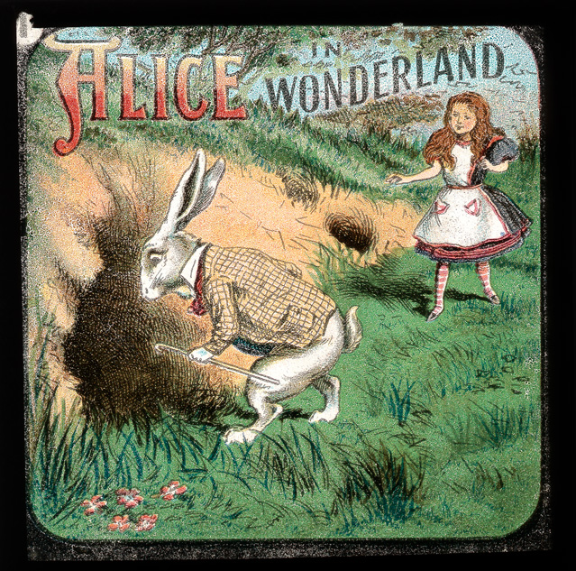 alicelanterns_1 - Alice in Wonderland, in 24 Vintage Magic Lantern Slides - Lifestyle, Culture and Arts