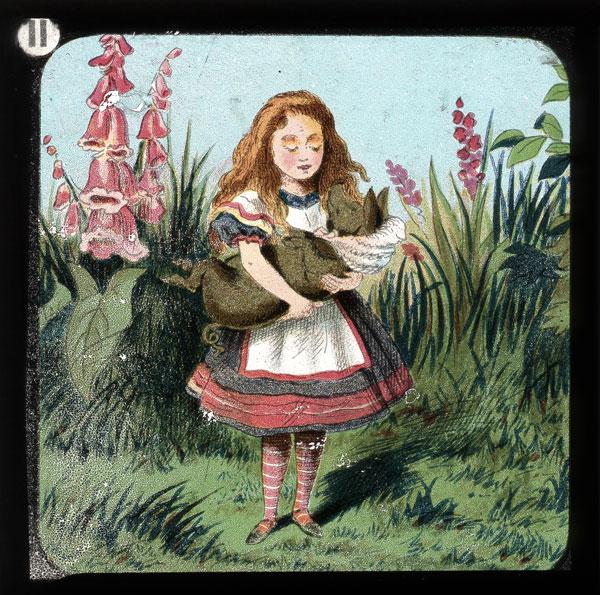alicelanterns_11 - Alice in Wonderland, in 24 Vintage Magic Lantern Slides - Lifestyle, Culture and Arts