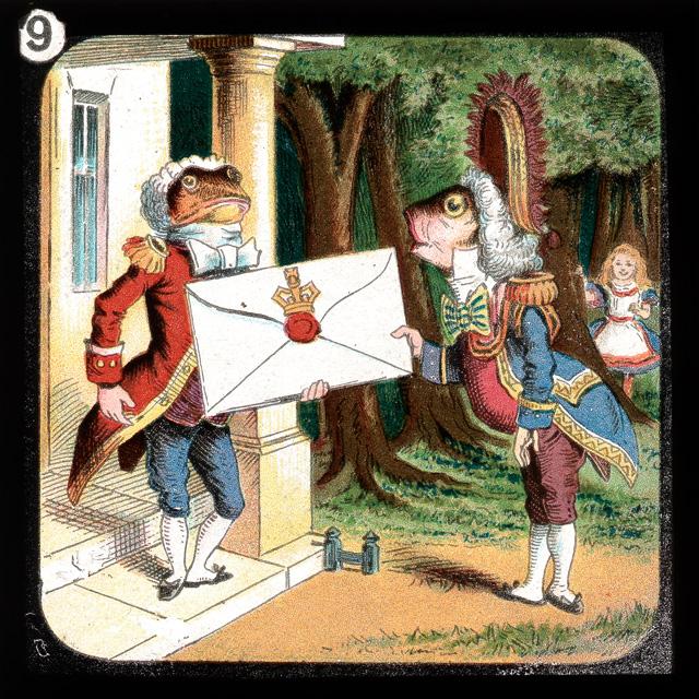 alicelanterns_9 - Alice in Wonderland, in 24 Vintage Magic Lantern Slides - Lifestyle, Culture and Arts