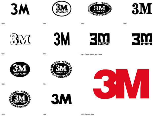 3M  1948-1978  Adidas Logo Evolution