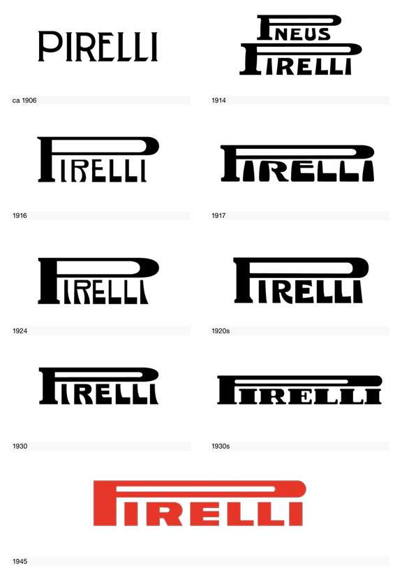 Pirelli  1906-1945  Adidas Logo Evolution