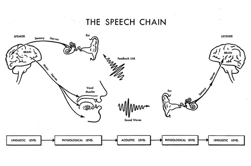 The Speech Chain  A Vintage Illustrated Guide To The