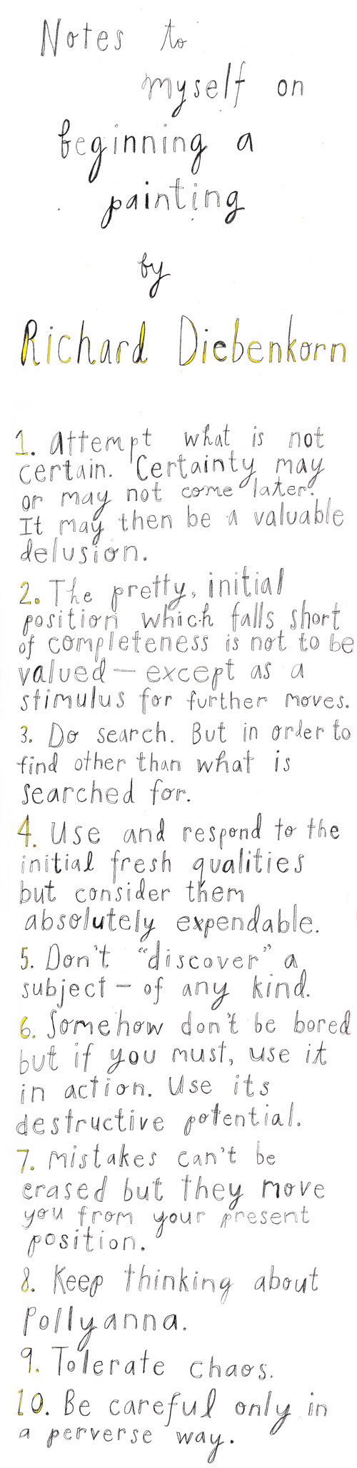 diebenkorn_painting2 - 10 Rules for Creative Projects - Lifestyle, Culture and Arts
