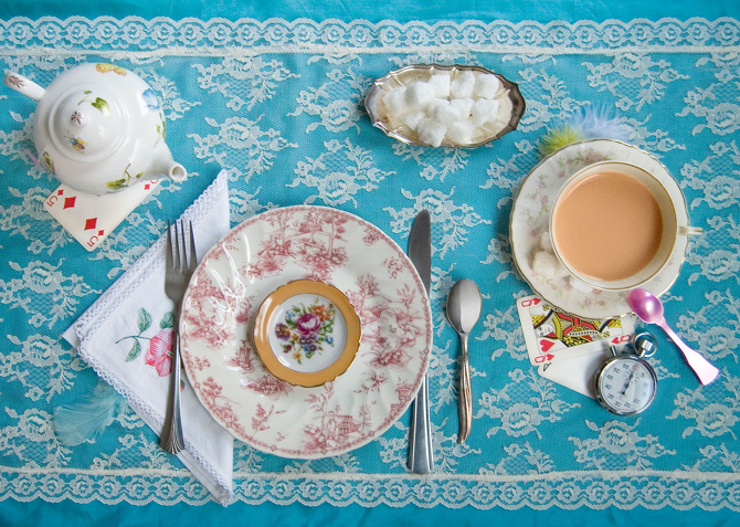 Food and Literature come together in beautiful, elegant photographs