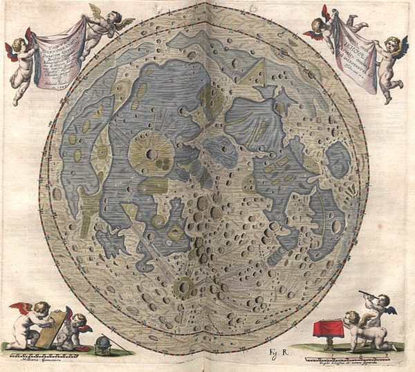 17th Century Star Catalog and First Moon Map Hevelius15